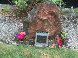 Red rock and acknowledgement of Mum and Dad